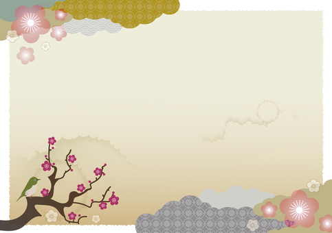 Japanese style background material 17
