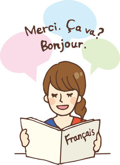 People who read books (Language / French)