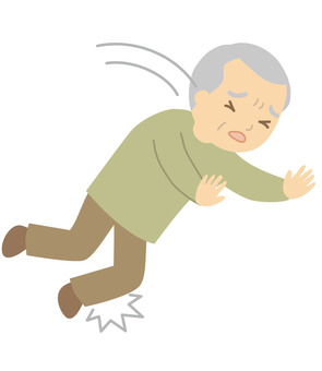 Elderly people to fall over