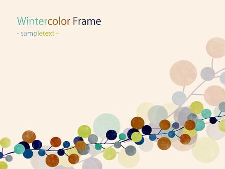 Winter color frame ver 04
