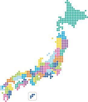 Japan Map Heart