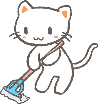 Cleaning cat