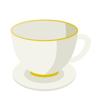 Cup and saucer (white)