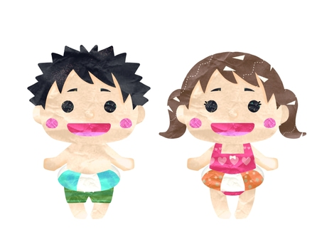 Boy and girl set with floats