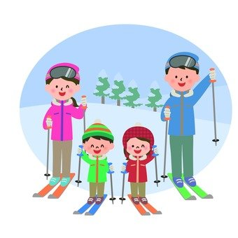 Skiing with families