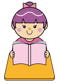 Girl 14 _ 01 (reading)