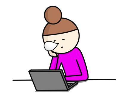 Laptop dozing off