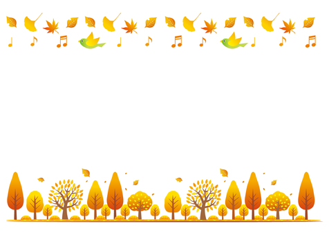 Fall decoration line background