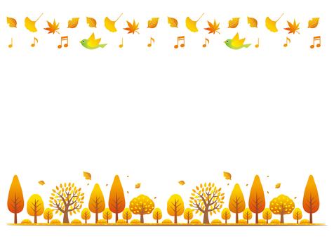 가을 장식 라인 배경