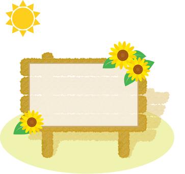 Bulletin Board Information Board Sunflower