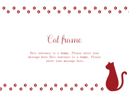 Cat Frame 02 / Red