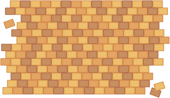 Three color biscuit tile