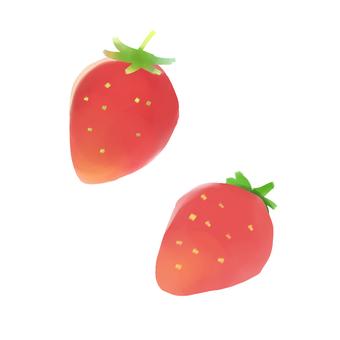 딸기의 일러스트