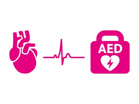 AED heart ECG icon
