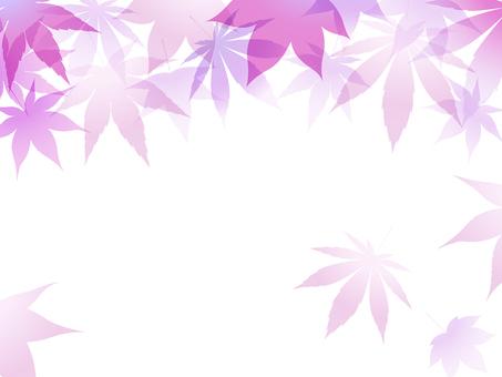 ai Purple autumn leaves background · wallpaper · frame