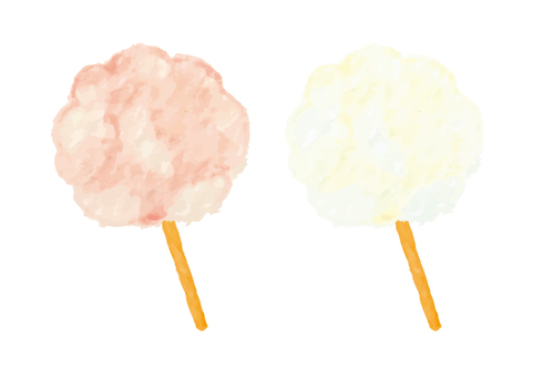 """""""Watercolor style"""" cotton candy"""