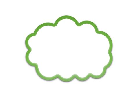 구름의 말풍선 (녹색 윤곽선)