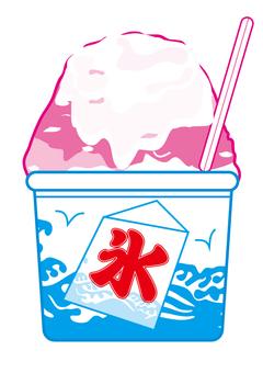 Shaved ice strawberry condensed milk