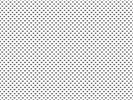 Hand-drawn heart dots on white background · Black