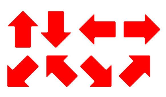 Red arrow set