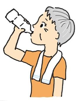 Granny who drinks PET bottle