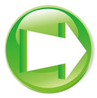 3D arrow icon - green