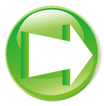 3D箭頭圖標 - 綠色
