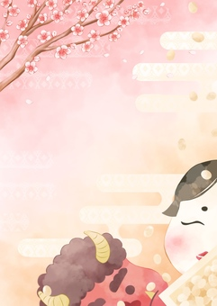 Setsubun's background illustration