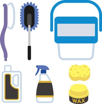 Car wash equipment icon set