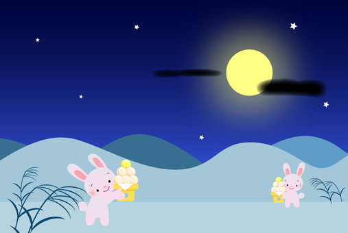 Moon view rabbits