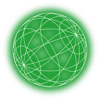 공 (녹색 빛)