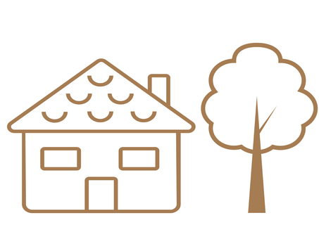 House and tree icon