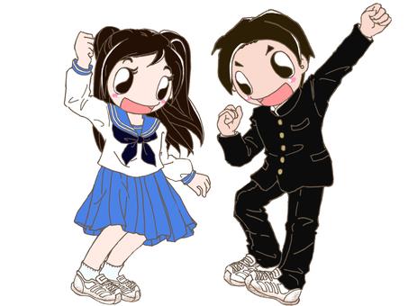 School run and sailor suit