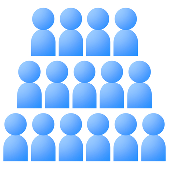 Group multiple people icon silhouette