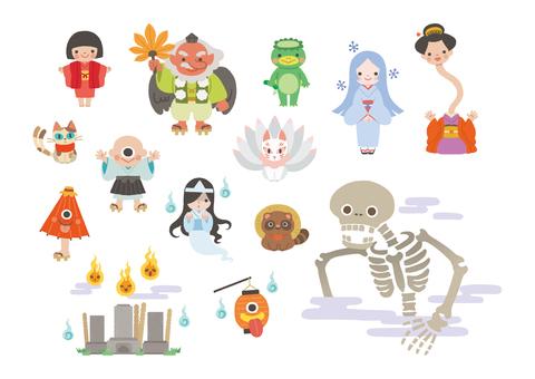 日本の妖怪イラスト No 1064600無料イラストならイラストac