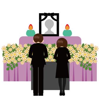 Funeral (burning incense)