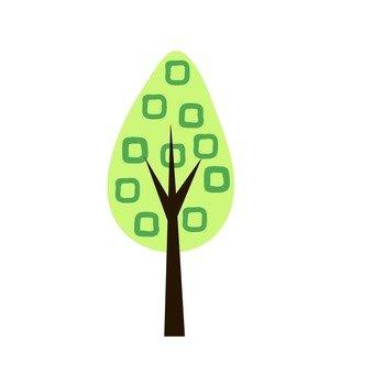 Scandinavian trees (green, drop type)