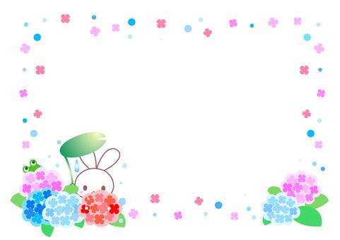 Rabbit and hydrangea framework