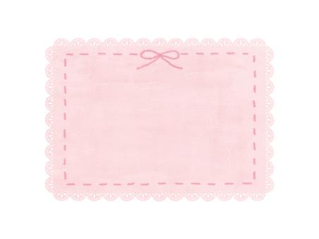 蕾絲框架(粉紅色)