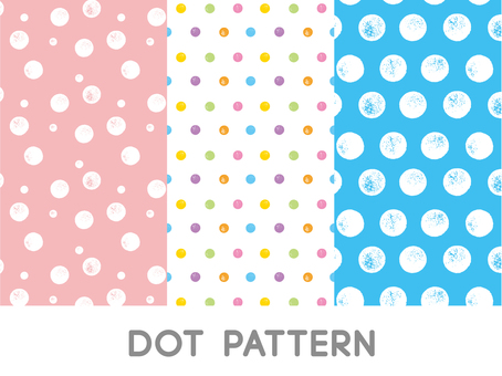 Pattern made with stamp (dot)