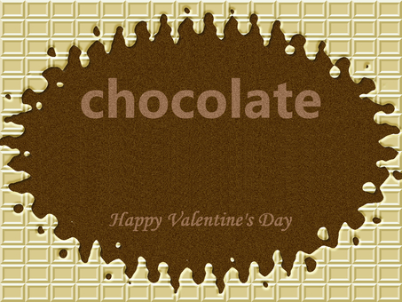 초콜릿 프레임 프레임 화이트 초콜릿