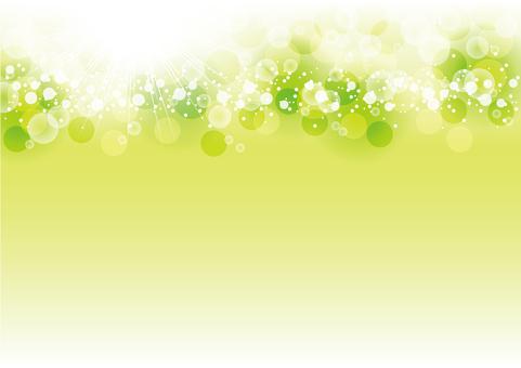 Full circle of fresh green sparkling light emission