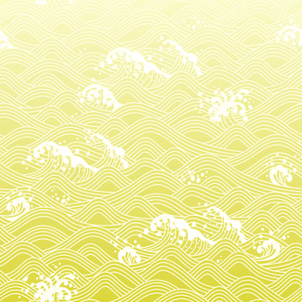 칭하이 파도 일본의 전통 문양