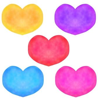 Handwritten heart, colorful