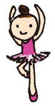 一个女孩跳芭蕾舞
