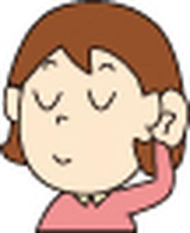 女性的耳朵清晰