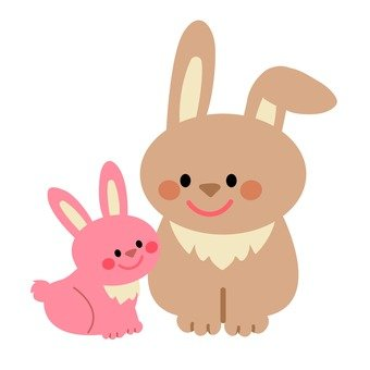Rabbit parent and child