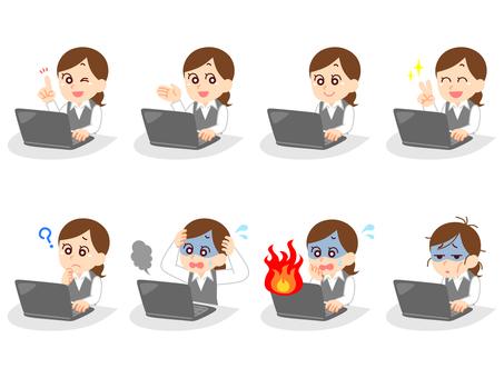 パソコンを使うOLさん