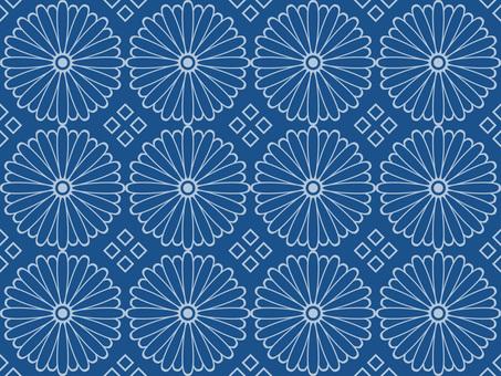 Wallpaper chrysanthemum 01 Loopable lapis