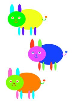 Three fluffy kun